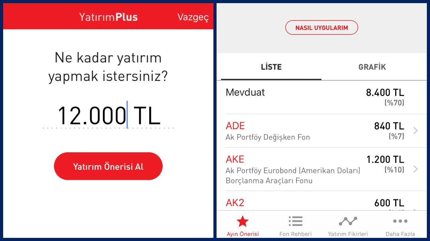 Ak Portföy Yatırım Plus Mobil Uygulaması.